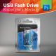 USB Flash Drive Blister Pack Mockup With USB Inside