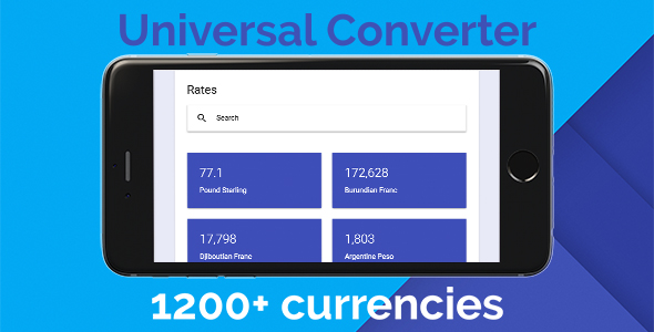 Universal Converter - Global Currencies Conversion Rates - CodeCanyon Item for Sale