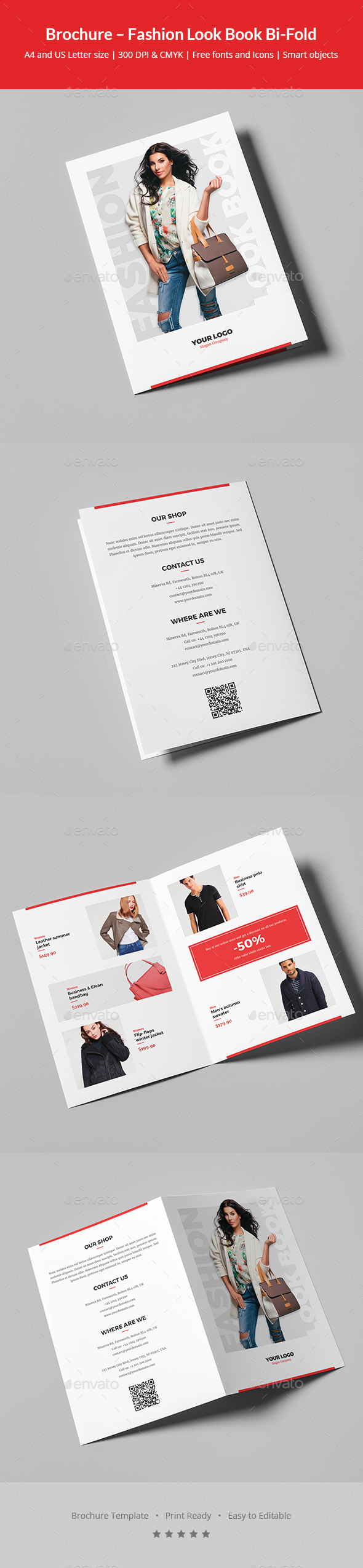GraphicRiver Brochure Fashion Look Book Bi-Fold 20913361