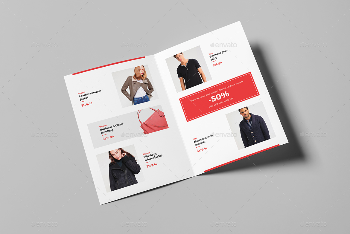 Brochure Fashion Look Book Bi Fold By Artbart Graphicriver