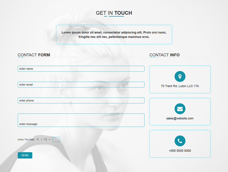 WannaTalk - Responsive PHP Working Ajax Contact Form by mgscoder ...