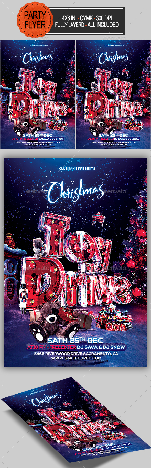 GraphicRiver Toy Drive Flyer 20899503