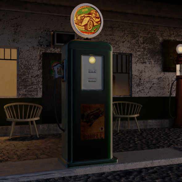 petrol-station - 3DOcean Item for Sale