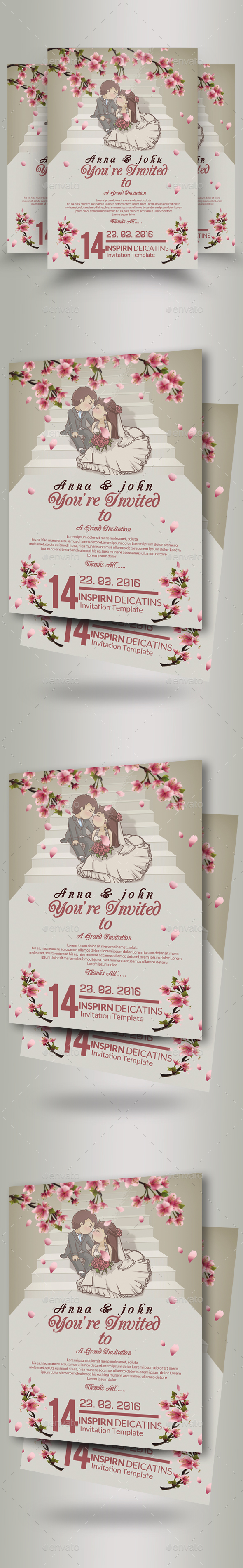 GraphicRiver Wedding Invitation Flyer Template 20913656