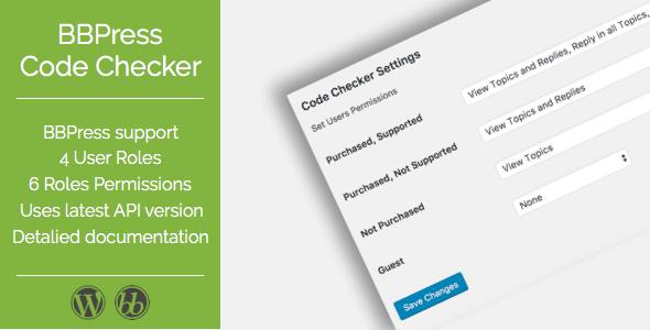 BBPress Envato Code Checker - CodeCanyon Item for Sale