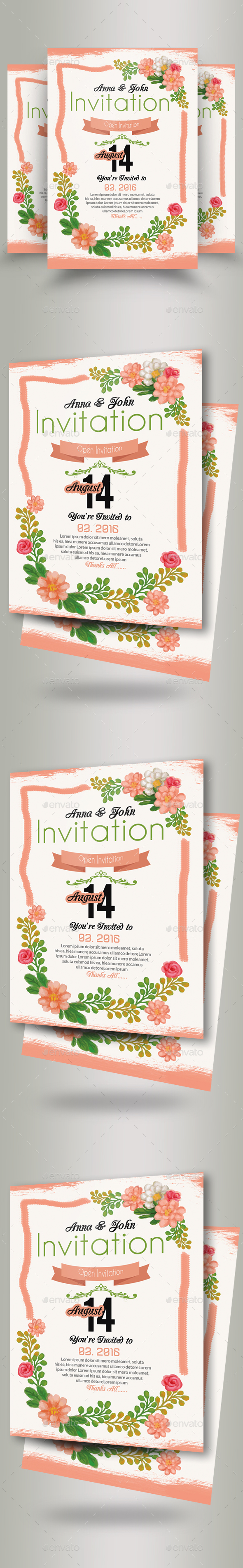 GraphicRiver Wedding Invitation Flyer Template 20913976