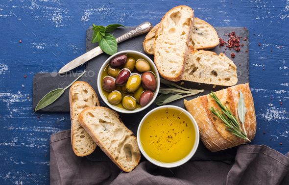 Mediterranean snacks set - Stock Photo - Images