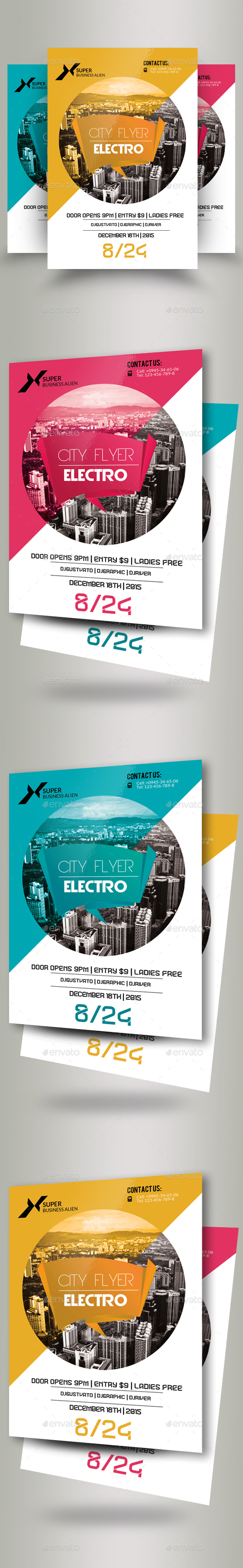 Modern Electro City Flyer - Corporate Flyers