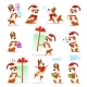 Christmas Cartoon Dog Set - GraphicRiver Item for Sale