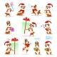 Christmas Cartoon Dog Set - GraphicRiver Item for Sale