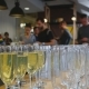 Glasses with Champagne in the Foreground, Blurred People on the Background - VideoHive Item for Sale