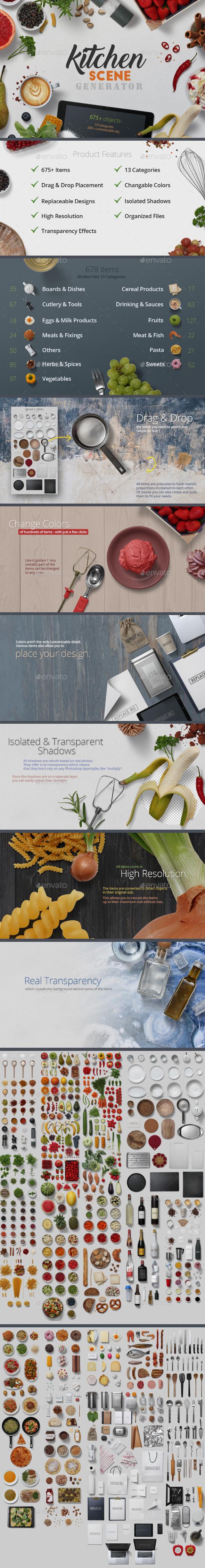 GraphicRiver Kitchen Scene Generator 20914387