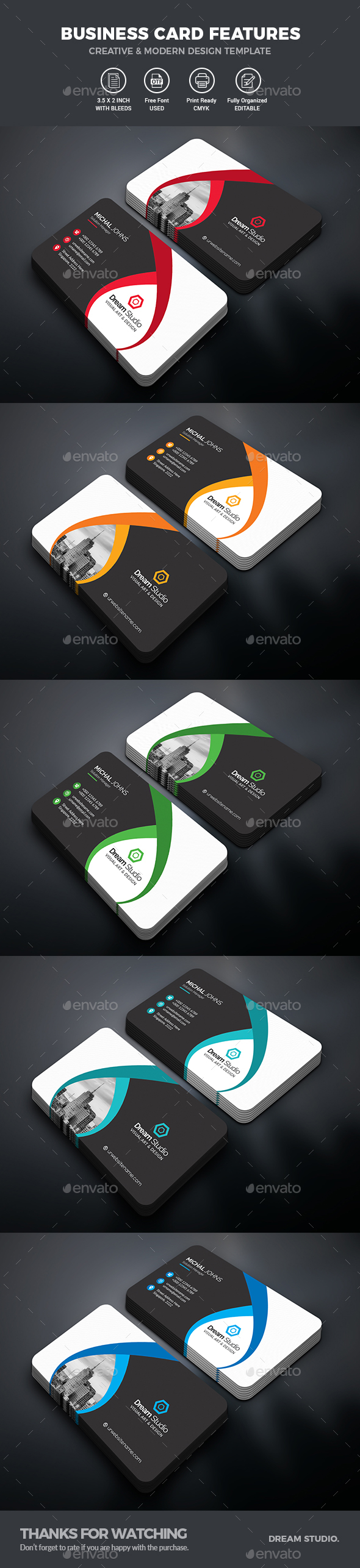 GraphicRiver Business Cards 20914561