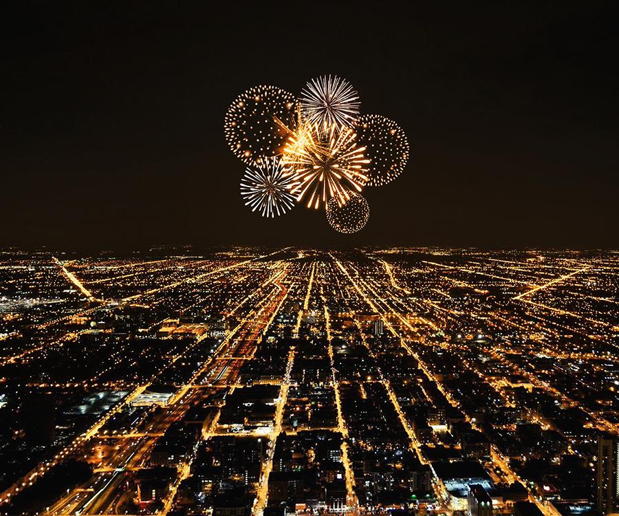 Gif Animated Fireworks Photoshop Action