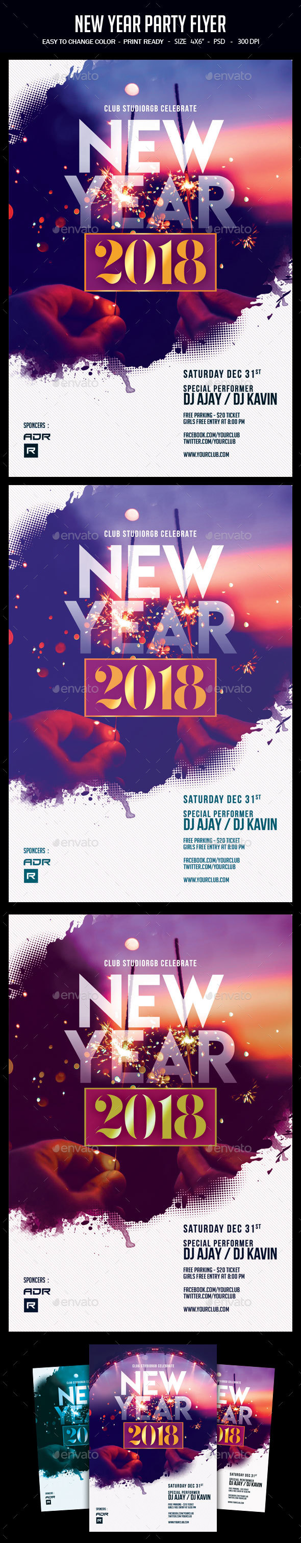 GraphicRiver New Year Party Flyer 20914567