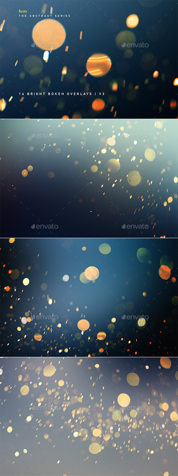Bright Bokeh Overlays V3 - Abstract Backgrounds