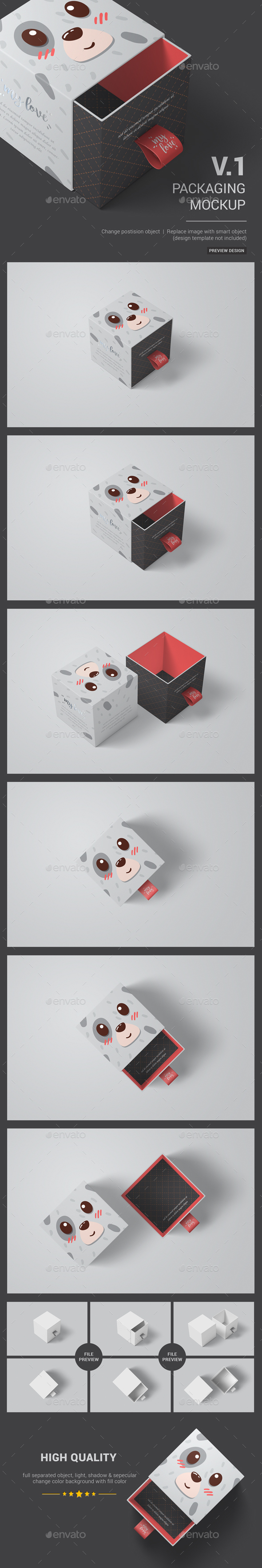 Sliding Box Packaging / Package Mockup 01