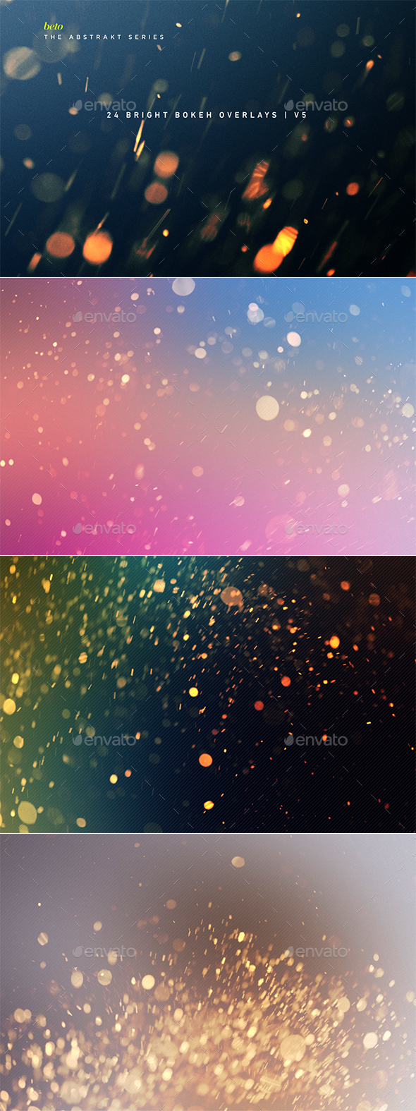 Bright Bokeh Overlays V5 - Abstract Backgrounds