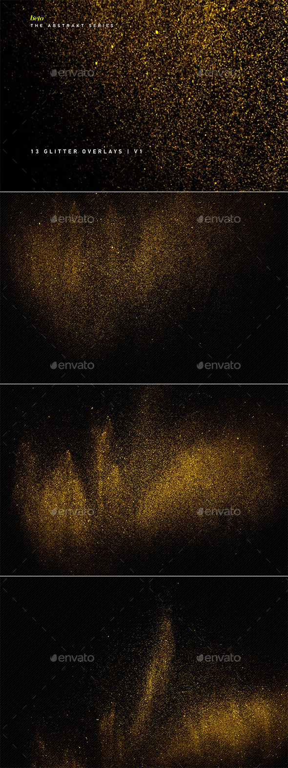 Glitter Overlays V1 - Abstract Backgrounds