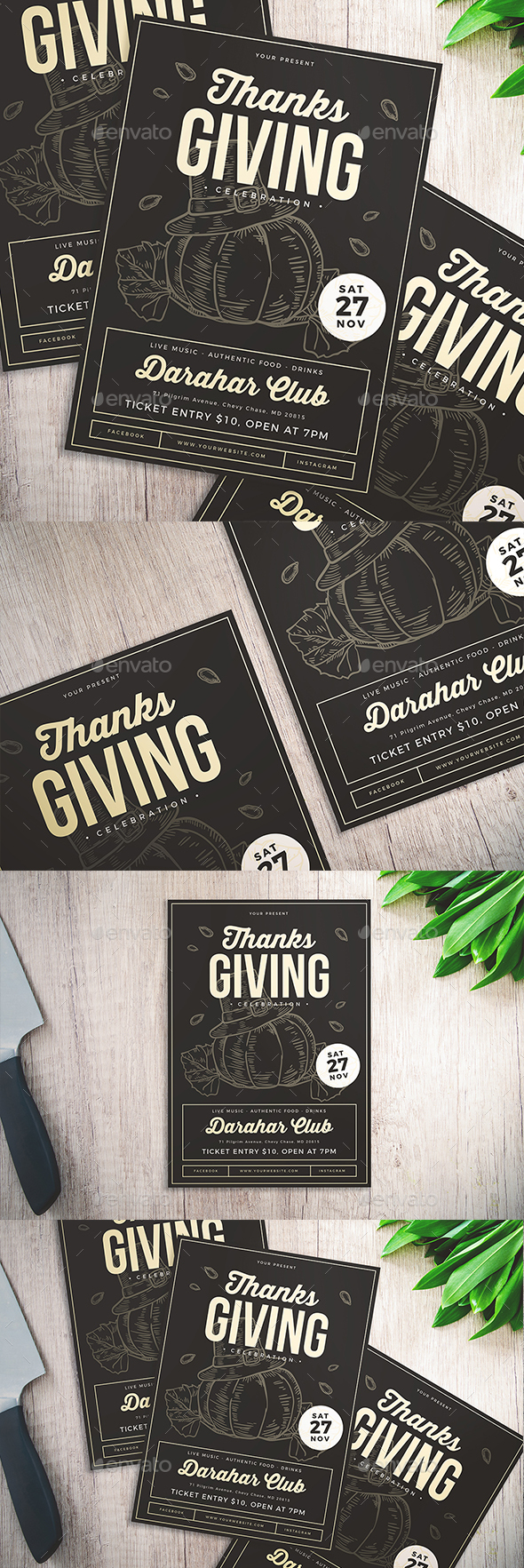 GraphicRiver Thanksgiving Celebration Flyer 20914634