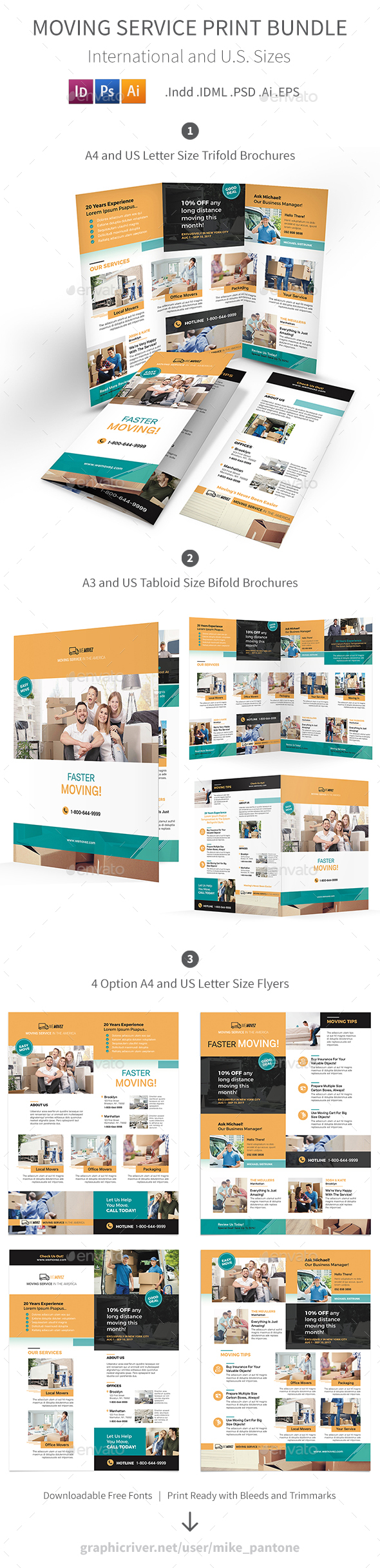 GraphicRiver Moving Service Print Bundle 2 20914716