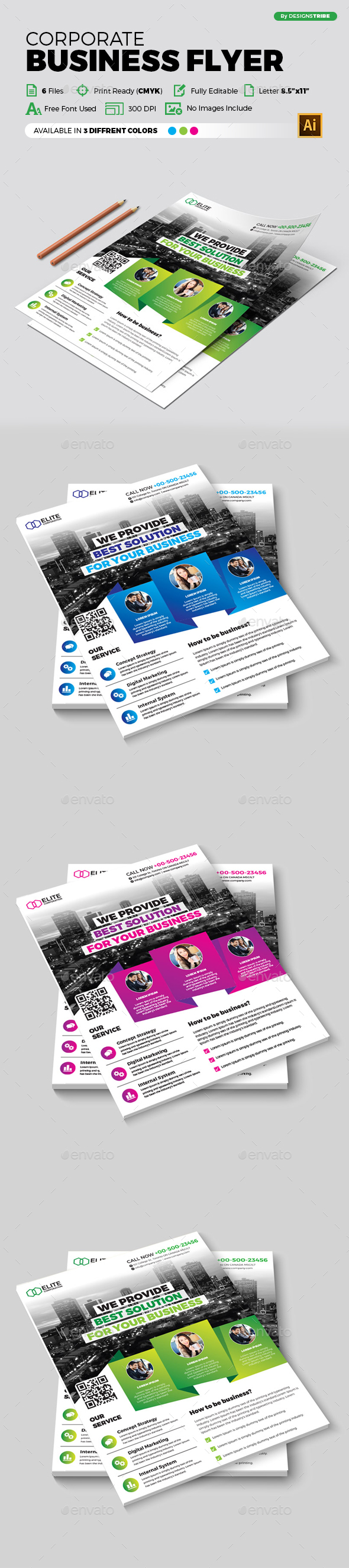 Flyer – Multipurpose 348 - Flyers Print Templates