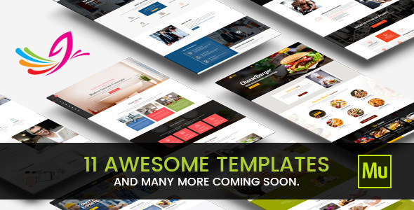 dMuse All in One Muse Template