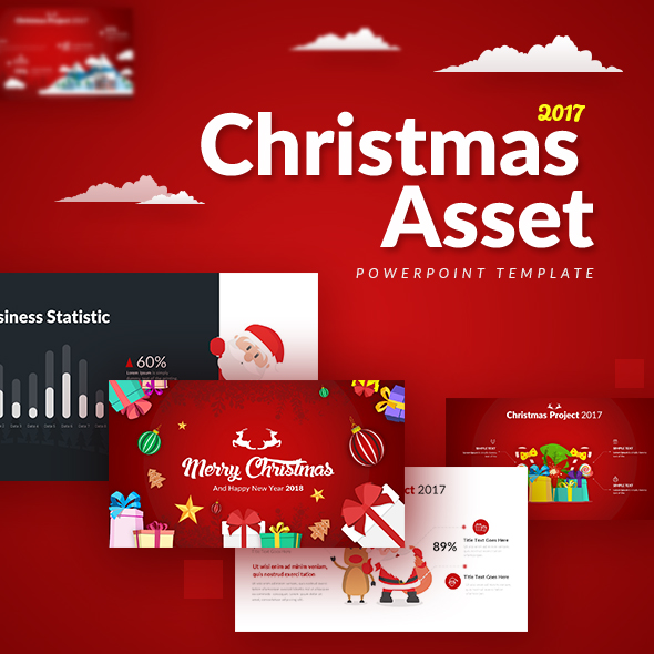 christmas asset - powerpoint templaterrgraph | graphicriver, Presentation templates