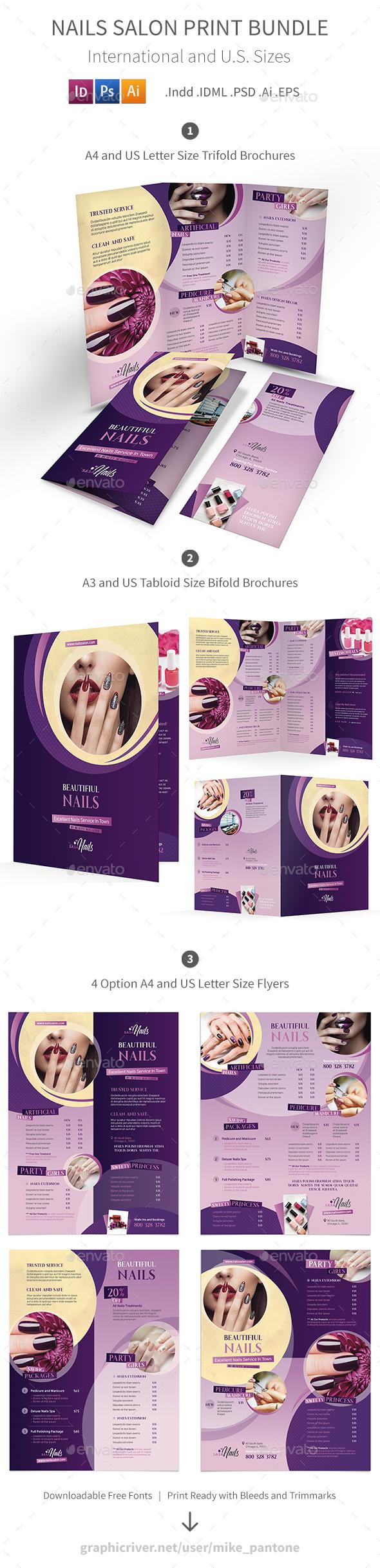 Nails Salon Print Bundle - Informational Brochures