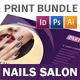 Nails Salon Print Bundle - GraphicRiver Item for Sale