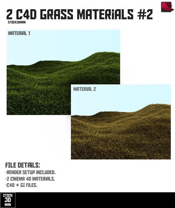 2 Cinema 4D Grass Materials #2 - 3DOcean Item for Sale
