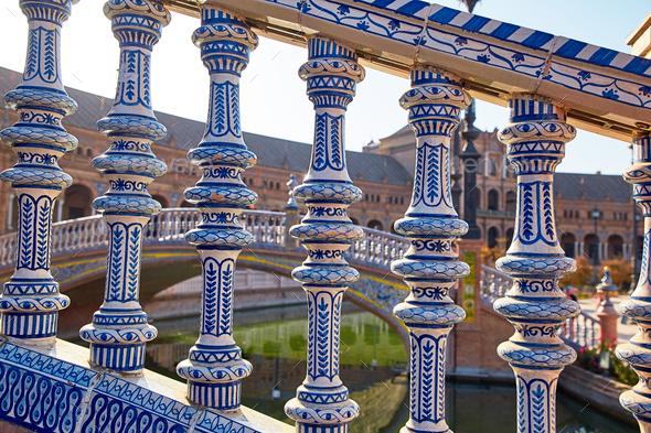 Spain Square, Sevilla, Spain - Stock Photo - Images