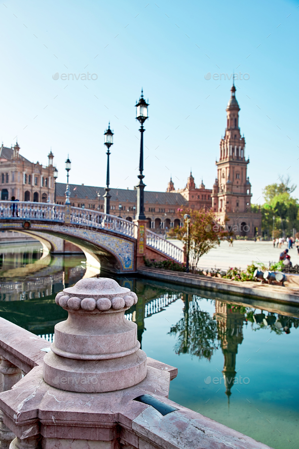 Spain Square, Sevilla, Spain - Stock Photo - Images