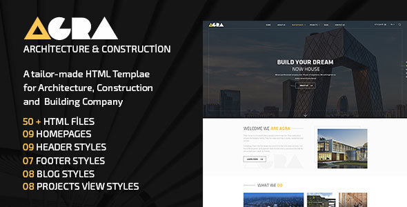 ThemeForest AGRA Architecture Construction Building Company 20915638