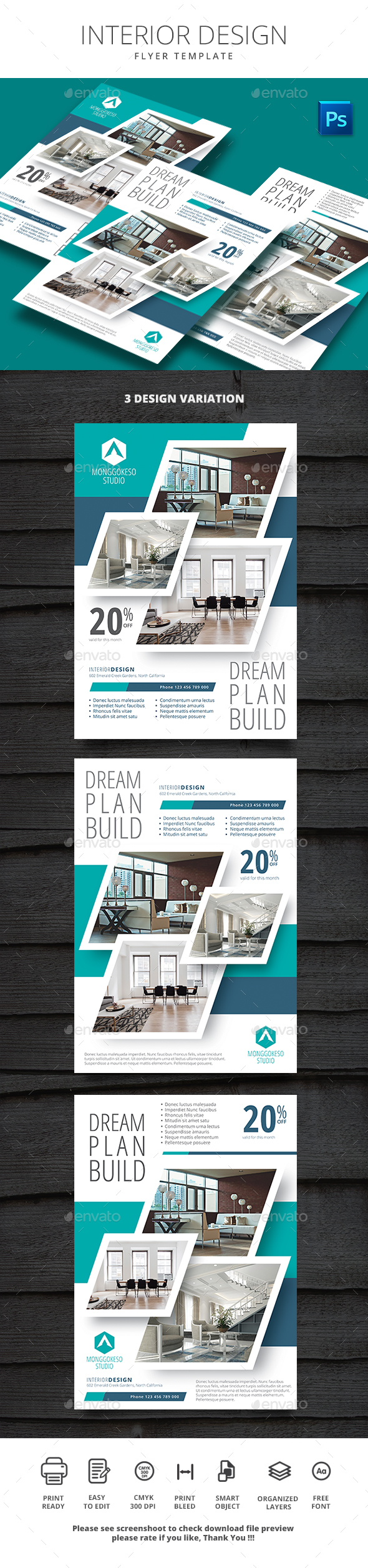 Interior Design - Flyers Print Templates