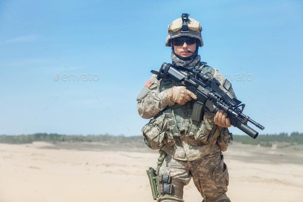 United states paratrooper airborne - Stock Photo - Images