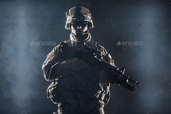 airborne infantry - Stock Photo - Images