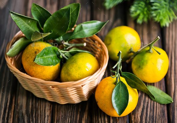 fresh tangerines - Stock Photo - Images