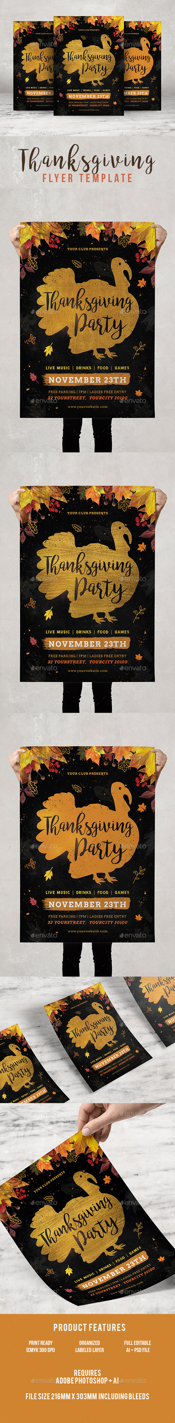 GraphicRiver Thanksgiving Flyer 20915837