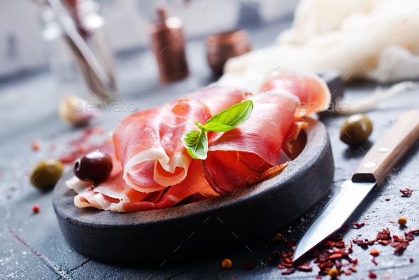 smoked parma ham - Stock Photo - Images