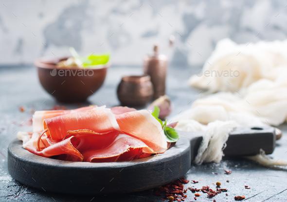 smoked parma ham - Stock Photo - Images