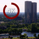 Green Riga with Modern and Outdated Skyscrapers 4K - VideoHive Item for Sale