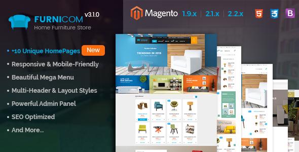 Furnicom - Responsive Magento 2 and 1.9 Furniture Theme - Shopping Magento