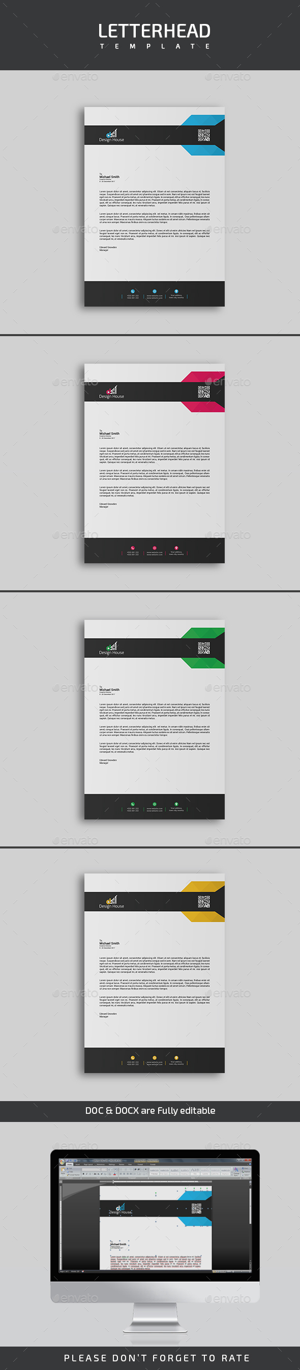 GraphicRiver Letterhead Template 20916132