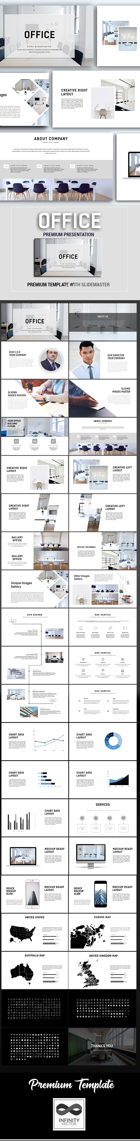 GraphicRiver Office Minimal Powerpoint Template 20916145