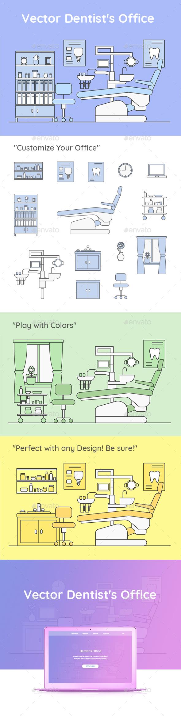 Vector Dentist's Office - Health/Medicine Conceptual