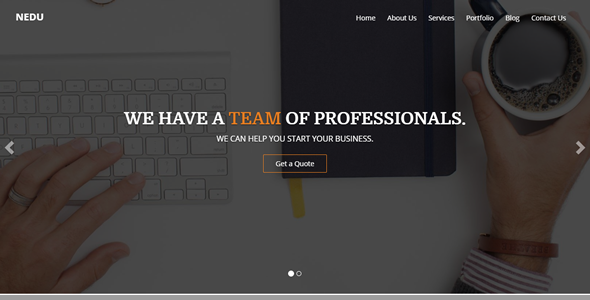 Nedu One Page Multipurpose Template