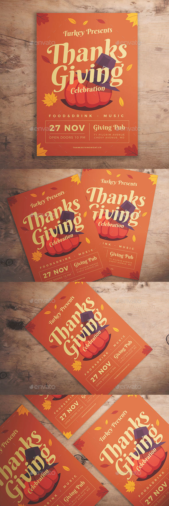 GraphicRiver Thanksgiving Celebration Flyer 20916269