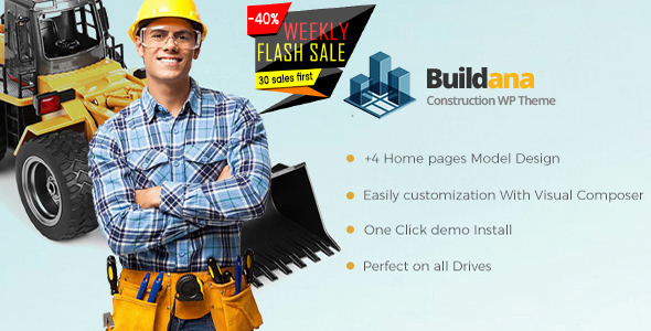 Image of Buildana | Construction & Building WordPress Theme