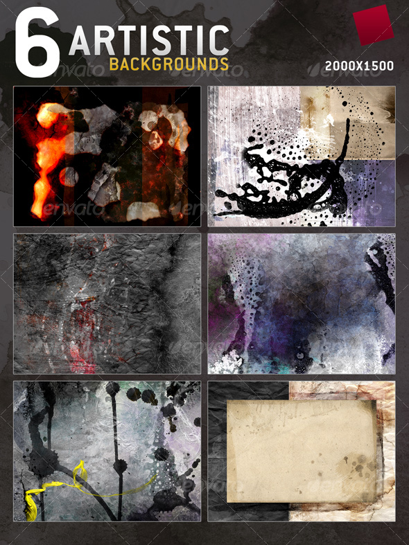 6 Artistic Textures - Backgrounds - Abstract Textures